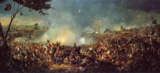 William Sadler, Schlacht von Waterloo, vor 1839.