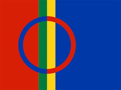 Flag of the Sami. Source: Wikipedia.