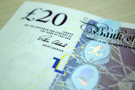 The new Cleland £20 note. Photographer: James Oxley. © Bank of England.