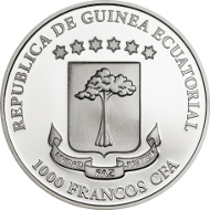 Equatorial Guinea / 2015 / 1000 Francos CFA / Silver .925 / 25 g / 38.61 mm / Proof / Mintage: 2500.