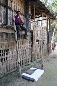 Digitising the written legacy of north-eastern India's Ahom Kingdom manuscripts written in the Tai Ahom script, no longer used in daily life. Endangered Archives Programme. Photography © Dr Stephen Morey.