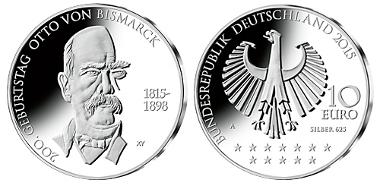 Deutschland / 2015 / 10 Euro / 625 Silber, 375 Kupfer. © BADV.