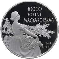 Hungary / 2015 / 10,000 forint / Ag .925 / 37 mm / 24 g / Design: Mihály Fritz / Mintage: 5,000.