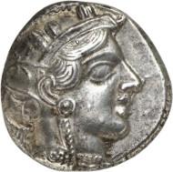 Nr. 120: ATHEN (Attika). Tetradrachme, ca. 400-380. Äußerst selten. Vorzüglich. Taxe: 2.500,- Euro. Zuschlag: 6.500 Euro.