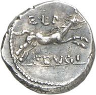 Nr. 340: RÖMISCHE REPUBLIK. L. Calpurnius Piso Frugi. Silberner Sesterz, 90 v. Chr. Sehr selten. Fast vorzüglich. Taxe: 2.500,- Euro. Zuschlag: 11.000,- Euro.