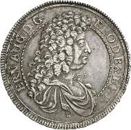 Nr. 3085: BRAUNSCHWEIG-CELLE / CALENBERG. Ernst August zu Calenberg, 1679-1698. Ausbeutetaler 1684 HB. Münzstätte Clausthal. Fast vorzüglich. Taxe: 1.200,- Euro. Zuschlag: 4.600,- Euro.