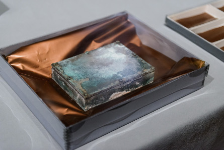 The time capsule prior to opening. Photograph © Museum of Fine Arts, Boston.