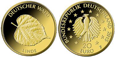 Deutschland / 2015 / 20 Euro / Au 999,9 / 3,89 g / Künstler: Frantisek Chochola, Hamburg / Auflage: 200.000. © BADV. Fotograf: Hans- Jürgen Fuchs, Stuttgart.