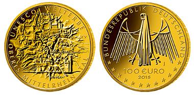 Deutschland / 2015 / 100 Euro / Au 999,9 / 15,55 g / Künstler: Friedrich Brenner, Diedorf. © BADV. Fotograf: Hans-Jürgen Fuchs, Stuttgart.