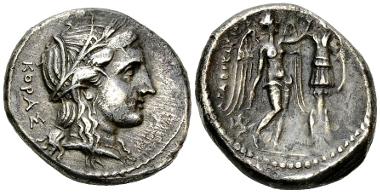 Agathokles. Tetradrachm, c. 308-305 BC. Estimate: CHF 850.