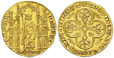 Philippe VI. Royal d'or. Ex Vinchon 2002. Estimate: CHF 2,500.