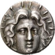 Los 58: Karien, Rhodos, Tetradrachme, 229-205 v.Chr. Schätzpreis: 1.750,- Euro.