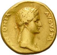 Los 114: Rom, Claudius für Antonia, Aureus. Schätzpreis: 3.450,- Euro.