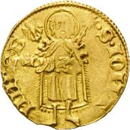 Los 551: Frankreich, Cambrai, Peter IV., Florin d'or. Schätzpreis: 11.500,- Euro.