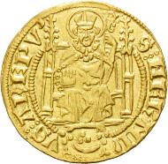 Los 1612: Mainz, Adolf I. von Nassau, Goldgulden 14. Jhd. Schätzpreis: 8.500,- Euro.