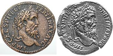 Abb. 1 und 2: Links der Paduaner - und rechts das Original aus der Sammlung Bally, Münzen und Medaillen AG, Basel 93 (2003), 200