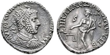 717: Uranius Antoninus (253-254). Usurpator in Syrien. Tetradrachme. Emesa (Homs), Sommer 253-Frühjahr 254 n. Chr. RRR. Rufpreis: 6.000 Euro.