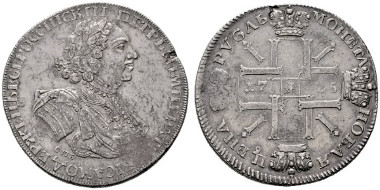 1903: Peter I. (1682-1725). Sonnenrubel 1725 SPB St. Petersburg. R. Rufpreis: 6.000 Euro.