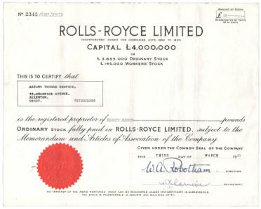 Aktie von Rolls-Royce.
