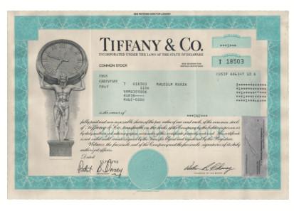 Aktie von Tiffany.