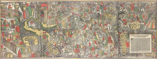Venezianische Schlachtdarstellung.
