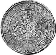 Schaffhausen. Reichstaler 1551. Wiel. 683. Aus Auktion Münzen und Medaillen AG, Basel 91 (2001), 977.
