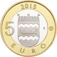 Finland/ 5 EUR/ 9.8 g/ 27.25 mm/ Designer: Erkki Vainio (obverse), Nora Tapper (reverse)/ Mintage: 35,000 (UNC), 10,000 (Proof).