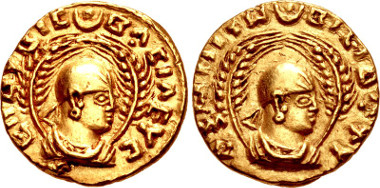 Lot 905: Axum. Endubis. Late 3rd century. Hahn, Aksumite 1; Munro-Hay type 1; BMC Axum 1-3. Good VF. From the Joan Wilde Collection. Ex Classical Numismatic Group 41. Estimate: $750.