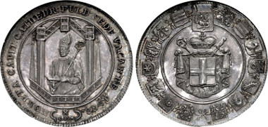 Lot 1008: Germany, Fulda (Bistum). Sede Vacante. 1788. Taler. Dated 1788. Eichelmann 165; Zepernick 86; Davenport 2263. Toned. Estimate: $500.