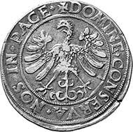 Thann. Reichstaler 1556. Dav. 9910. From auction Münzen und Medaillen AG, Basel 91 (2001), 704.