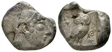 131: Attica, Athens. Circa 490-483 BC. Tetradrachm.