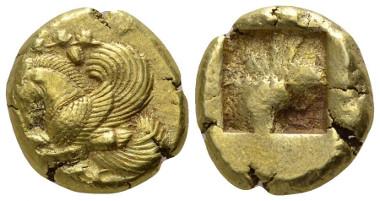 152: Mysia, Lampsakos. Circa 480-450 BC. EL Stater.
