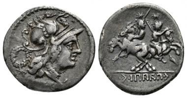 263: The Social War, Marsic Confederation. C. Papius C.f. Mutilus. 90 BC. Denarius.
