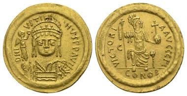 419: Justin II. AD 565-578. Solidus.