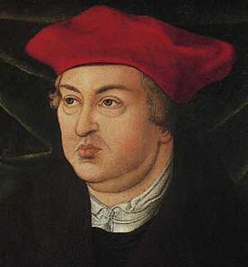 Albrecht von Brandenburg, Gemälde von Lucas Cranach d. Ä. Quelle: Wikipedia.