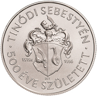 Hungary / 2015 / 2,000 forint / CuNi / 37 mm / 23.7 g / Design: Tamás E. Soltra / Mintage: 5,000.