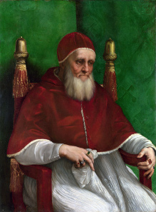 Raphael, portrait of Pope Julius II, 1511-1512. Source: Wikicommons.