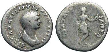 Julia Titi. Augusta, A.D. 79-90/1. Denarius. Rome mint, Struck A.D. 80-81. Rare. Estimate: $ 300.