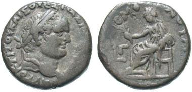 Egypt, Alexandria. Titus. A.D. 79-81. Tetradrachm. Dated RY 3 = A.D. 80/1. Ex Malloy collection. Estimate: $ 100.