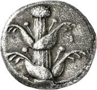 306: Kyrenaika. Barce. Tetradrachme. 480-435 v. Chr. Rufpreis: EUR 15.000.