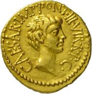 355: Marcus Antonius und Octavianus. Aureus. Rufpreis: EUR 25.000.