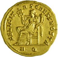 695: Severus II. 305-306 n. Chr. Aureus. Rufpreis: EUR 25.000.