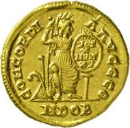 720: Valentinianus II. 375-392 n. Chr. Solidus. Rufpreis: EUR 5.500.