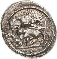 Makedonien. Akanthos. Tetradrachme 530-480 v. Chr. BMC 2, SNG Cop. Sehr schön-vorzüglich. 700 Euro.