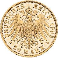 Sachsen. Friedrich August III. 1904-1918. 20 Mark 1905 E. Jaeger 268. Fast vorzüglich/vorzüglich. 450 Euro.