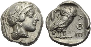 Lot 73: ATTIKA. Athens. Tetradrachm. Ca. 449 - 404 BC.