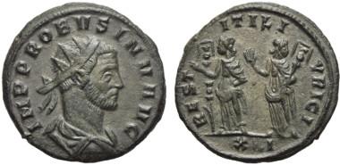 Lot 310: PROBUS (276 - 282 AD). Antoninian. 277 AD. Siscia. Extremely rare.