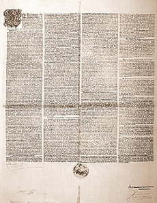 The Edict of Restitution, 1629. Source: Wikicommons.