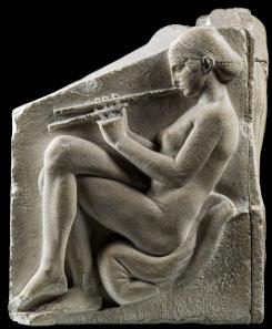 Die Haube für eine Musikerin. Altareinfassung? ('Ludovisischer Thron'); Marmor; um 470 v. Chr.; Rom, Museo Nazionale Romano, Palazzo Altemps (Original); Abguss SH 85. (Aufnahmen: R. Habegger, A. Voegelin).