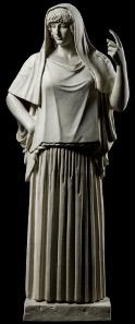 Die ideale Ehefrau. Statue der Hera ('Hestia Giustiniani'); römische Kopie nach einem Werk um 470 v. Chr.; Rom, Villa Albani (Original); Abguss SH 72. (Aufnahmen: R. Habegger, A. Voegelin).